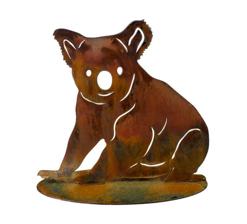 Koala Sitting Stand Medium Garden Art