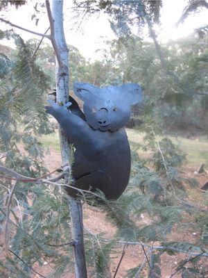 Unique Steel Garden art by Overwrought -Koala in tree