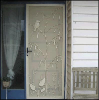 Security Screen Door by Overwrought - Kookaburra Door