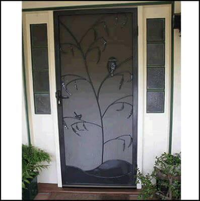 Security Screen Door by Overwrought - Kookaburra Door No 2