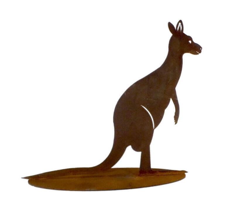 Large Kangaroo Stand Garden Art