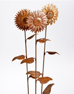 Garden stakes By Overwrought - Large Sunflowers