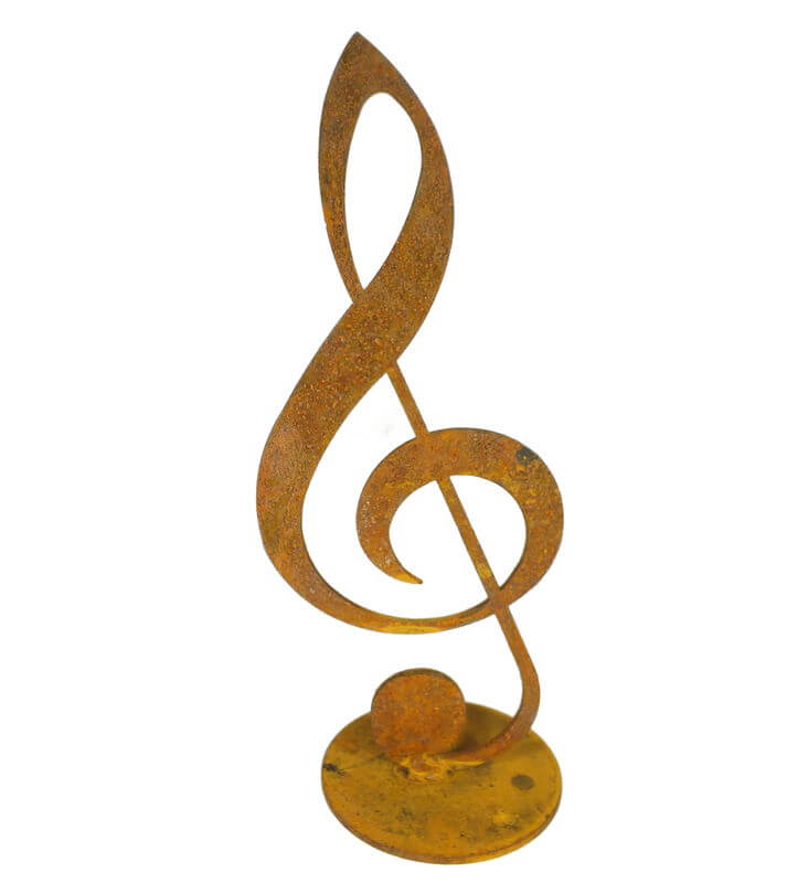 Large Treble Clef Stand Garden Art