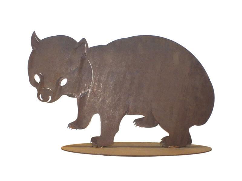 Large Wombat Stand Garden Art