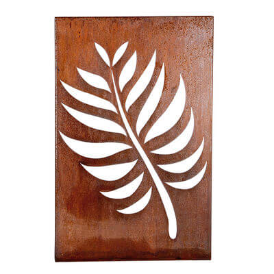 Metal Wall art by Overwrought - Leaf Box Wall Art