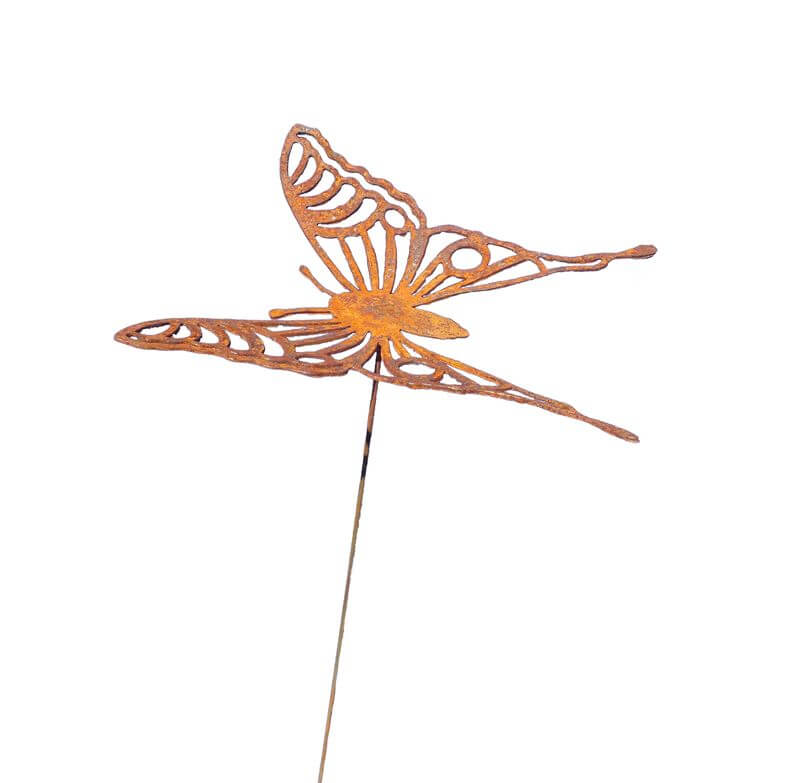 Medium Butterfly 2 Stake Garden Art