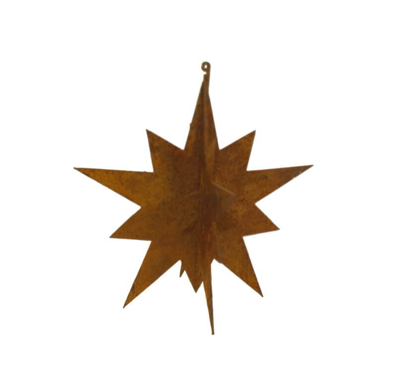 Medium Hanging Star Metal Garden Art