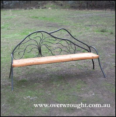 Individually made outdoor Steel furniture By Overwrought - Mount Bogong Seat