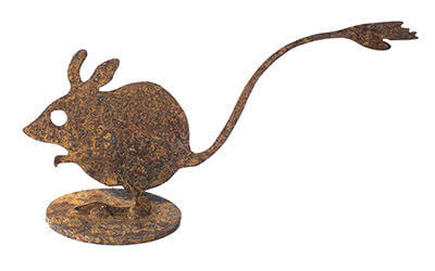 Native Hopping Mouse Metal Garden Art Sculpture