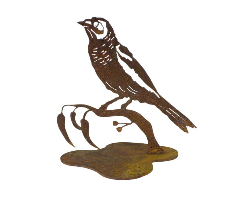 Noisy Minor Bird Stand Garden Art