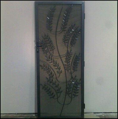 Security Screen Door by Overwrought - Olive Branch Door