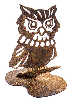Owl Metal Garden Art Sculpture