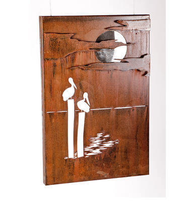 Metal Wall art by Overwrought - Pelican Box Wall art