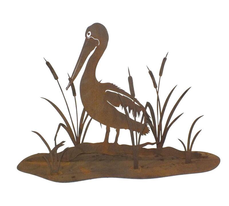 Pelican and Bullrush Stand