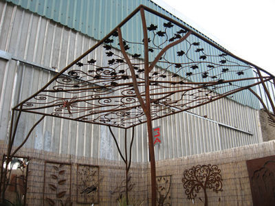Wrought Iron Pergola by Overwrought - Pergola One