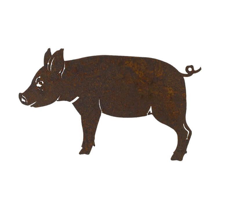 Pig Magnet Garden Art