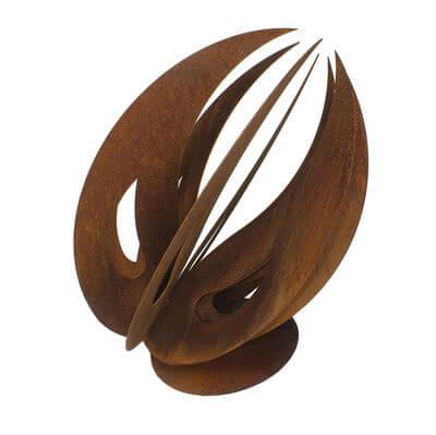Pod   Abstract metal garden sculpture No 25