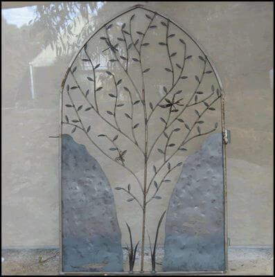 Wrought Iron Gate by Overwrought -  Praying Mantis Gate