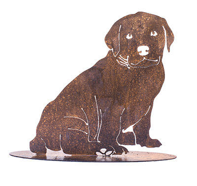 Puppy One Metal Garden Art Sculpture