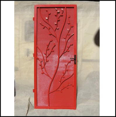 All steel security door - Tree design