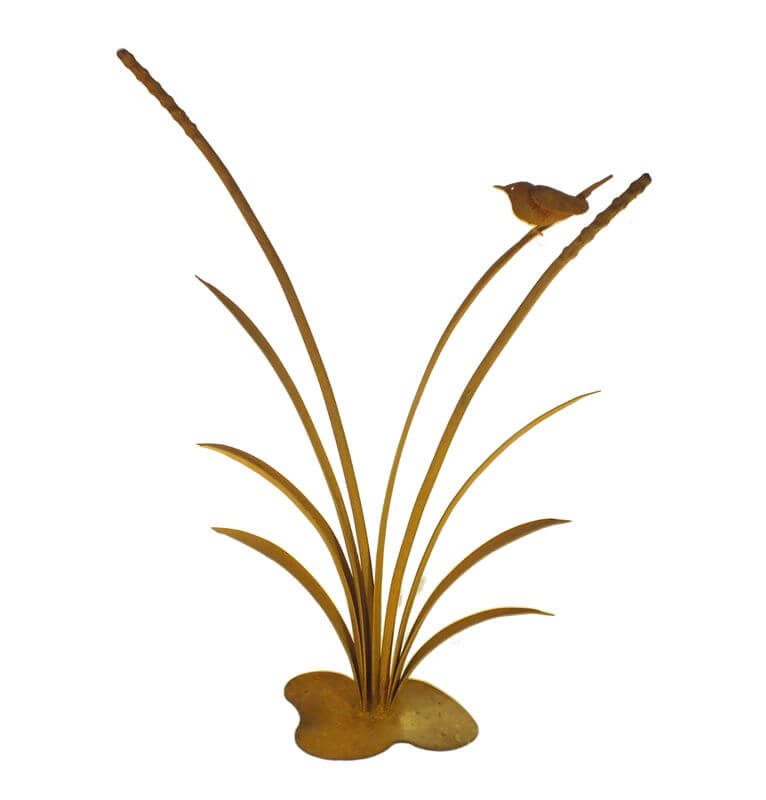 Reeds with 3D Wren Stand