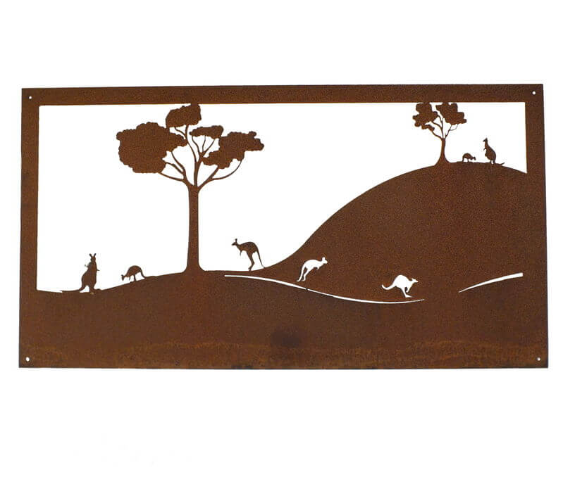 Roos Under Trees Metal Garden Wall Art Panel