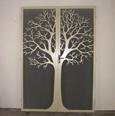 Unique handmade steel doors - Round Tree Double Doors