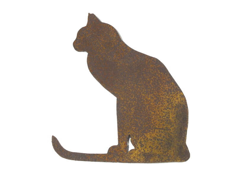 Sitting Cat Magnet Garden Art