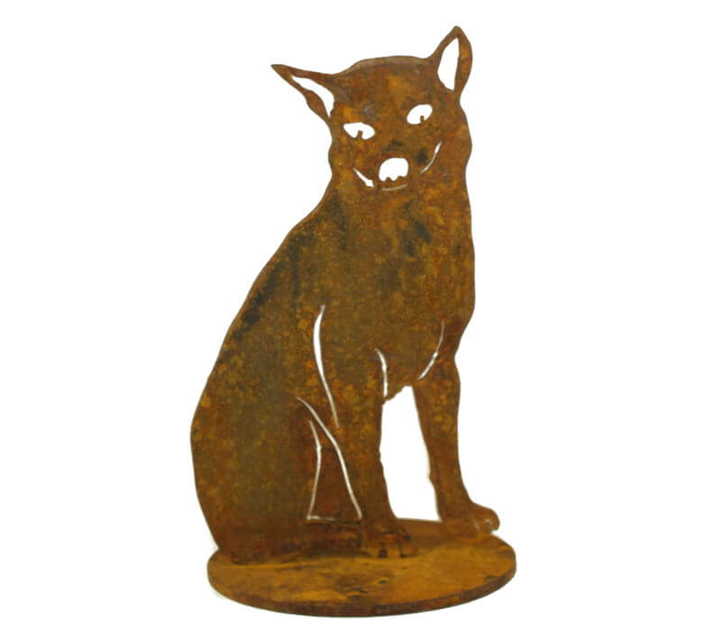 Sitting Dingo Stand Medium Garden Art