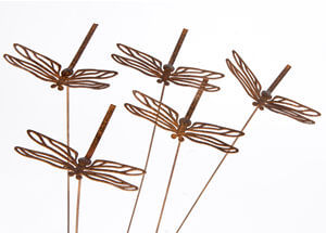 Garden stakes By Overwrought - Small Dragonfly Garden Stake