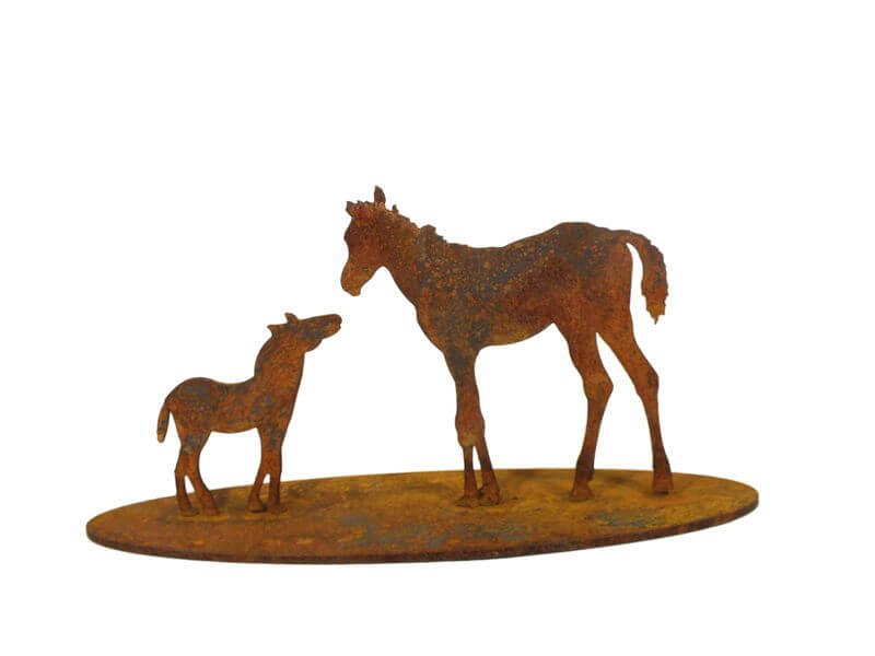 Small Mare and Foal Stand