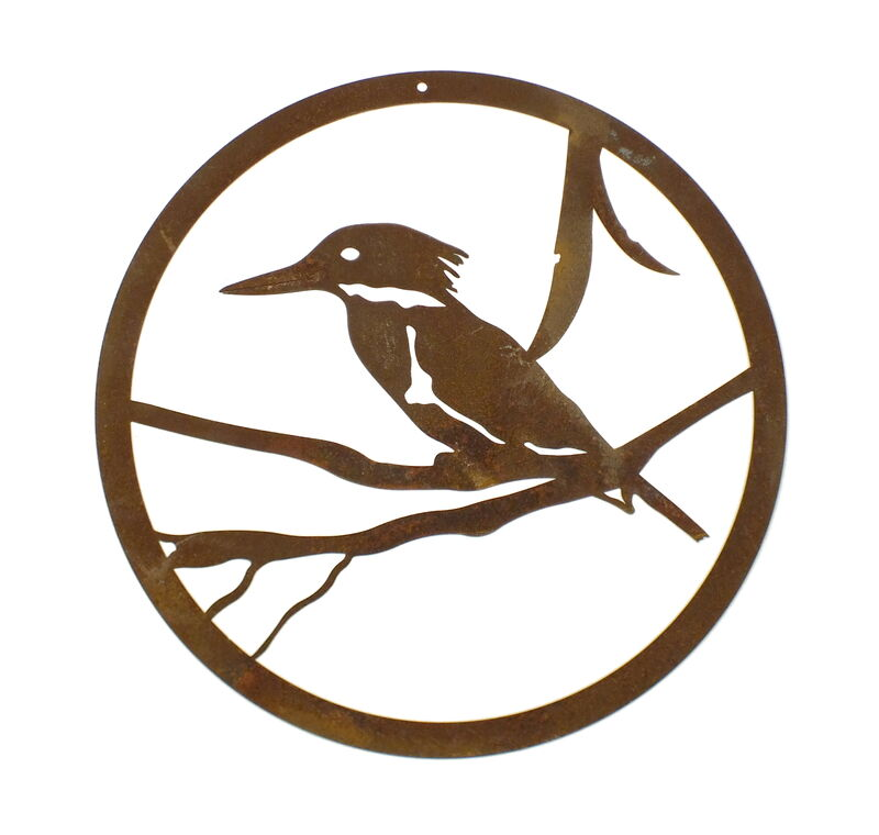 Small Round Kingfisher Panel Wall Art