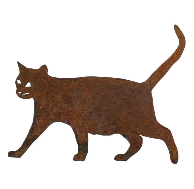 Small Walking Cat Magnet Garden Art