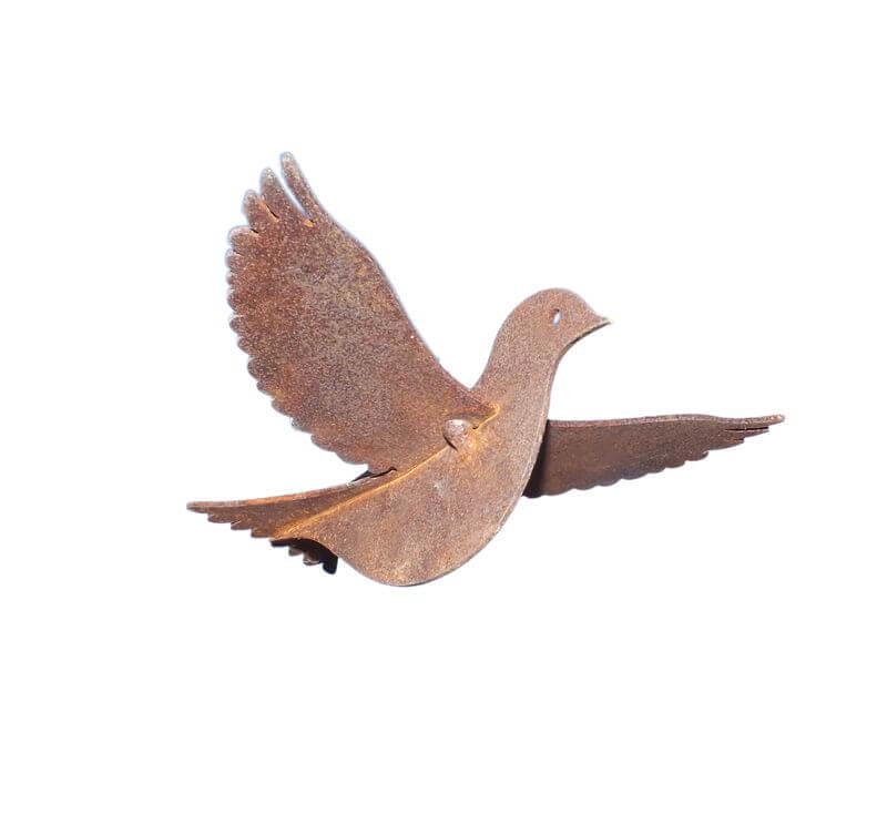 Sparrow Flying Garden Art