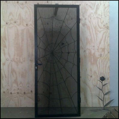 Security Screen Door by Overwrought - Spider web Door & Spider web Door | Overwrought