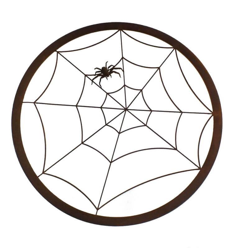Spiderweb Round Metal Garden Wall Art