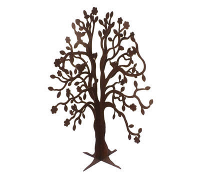 Spring tree standing metal garden sculpture