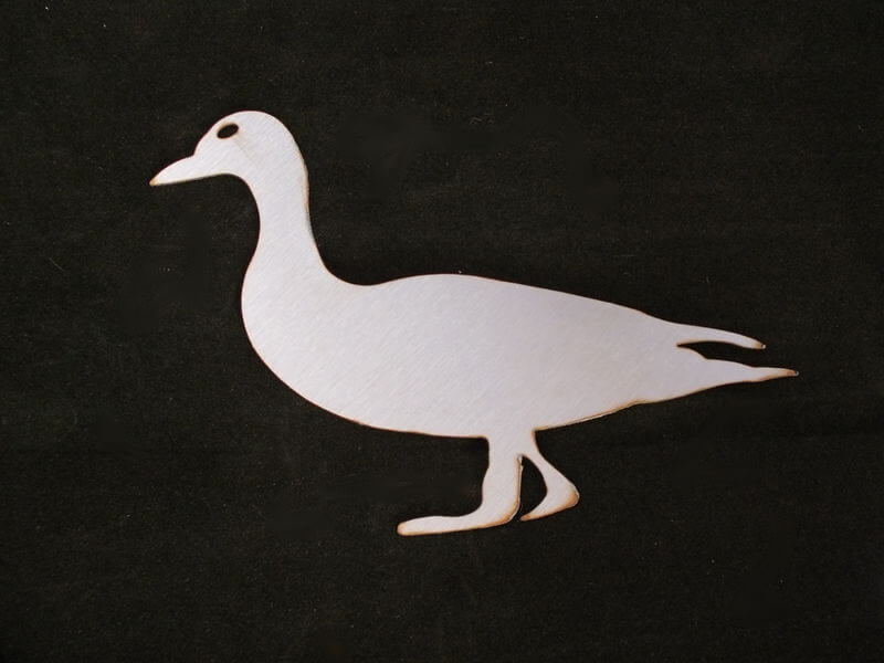 Stainless Steel Duck Magnet Garden Art
