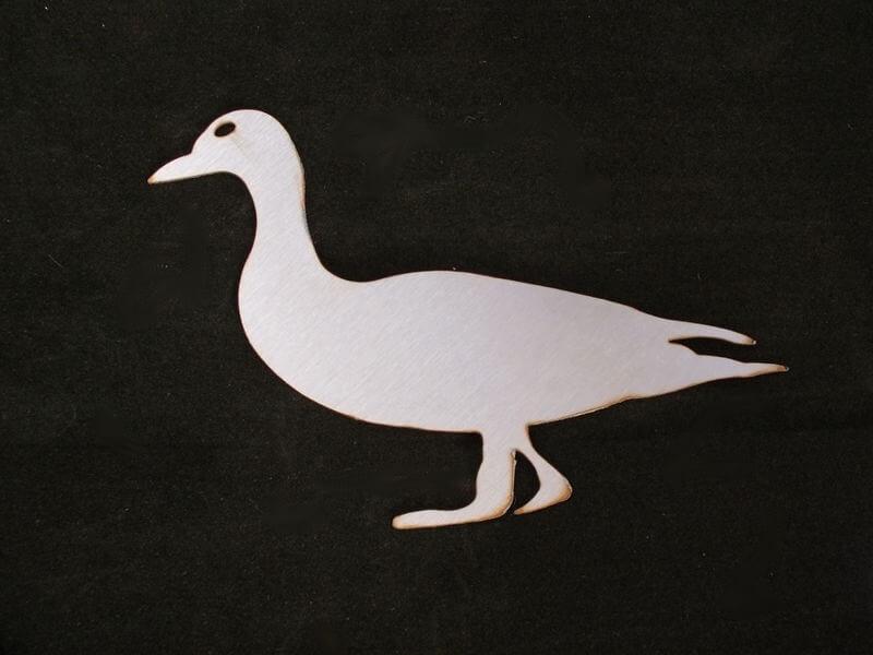 Stainless Steel Duck Magnet Garden Art