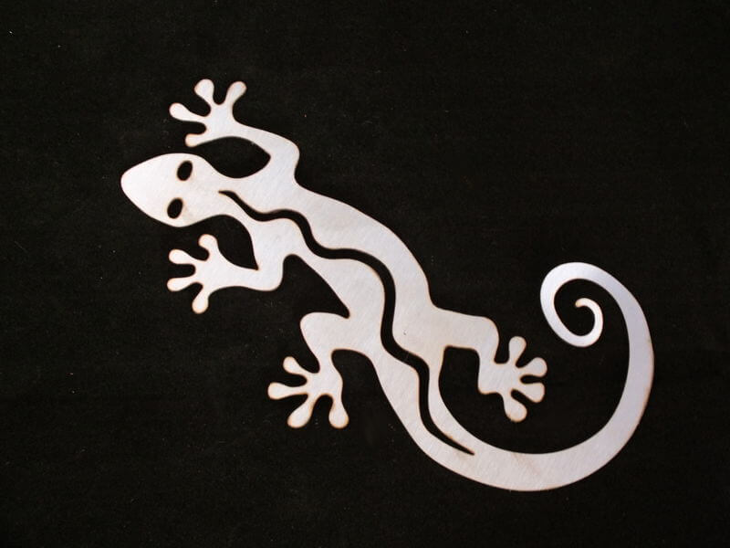 Stainless Steel Gecko Magnet Garden Art