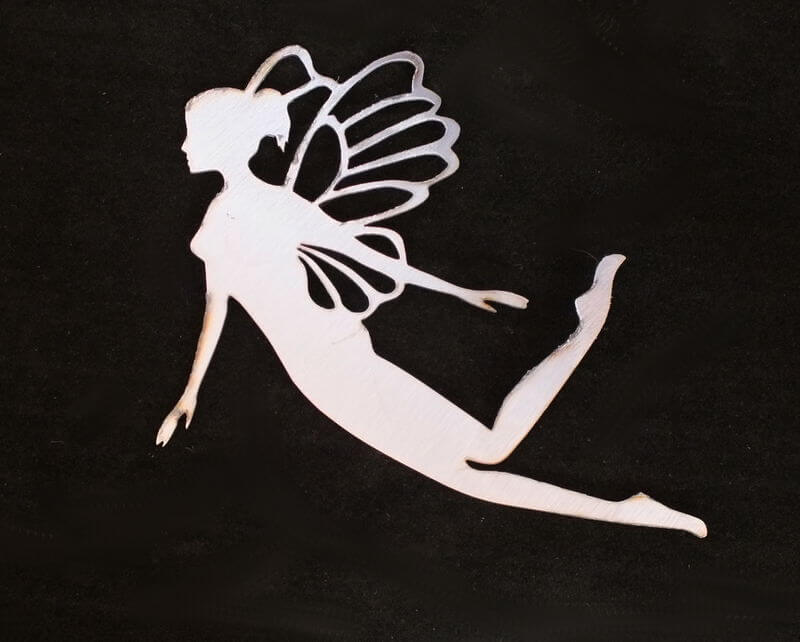 Stainless Steel Hanging Fairy Magnet Garden Art