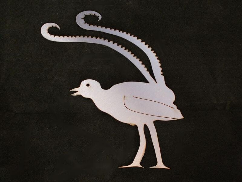 Stainless Steel Lyrebird Magnet Garden Art