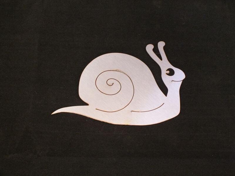 Stainless Steel Snail Magnet Garden Art