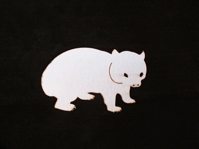 Stainless Steel Wombat Magnet Garden Art
