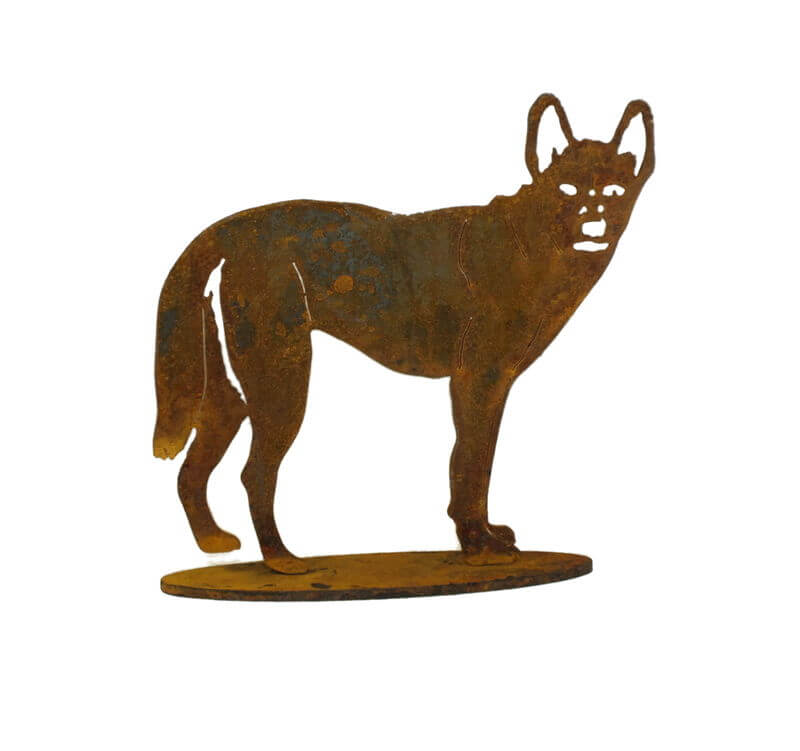 Standing Dingo One Medium Stand Garden Art