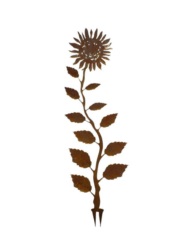 Sunflower Wedge Stake Garden Art