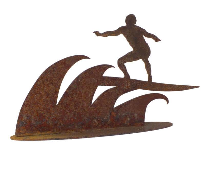 Surfer Stand Garden Art