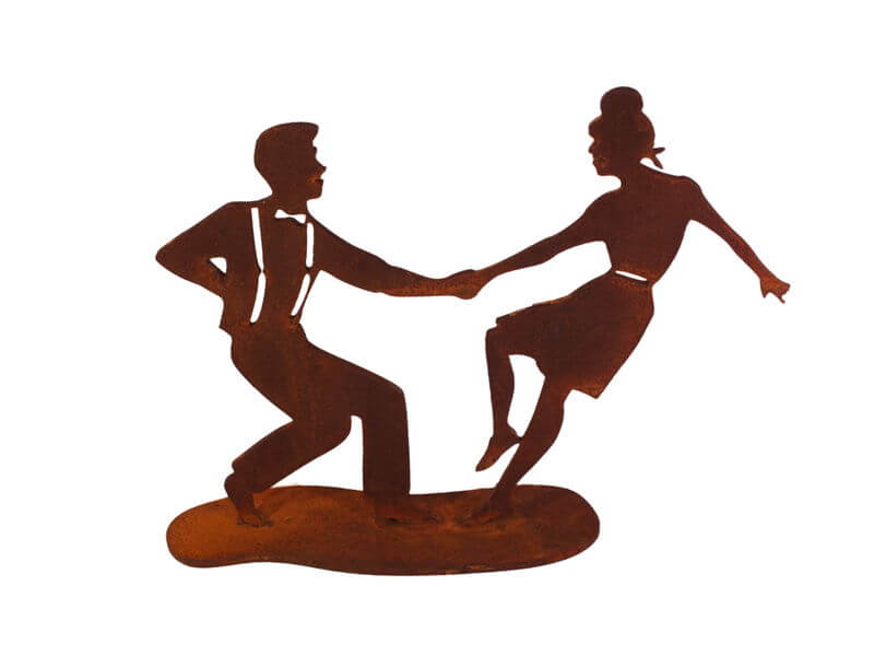 Swing Dancers One Garden Art