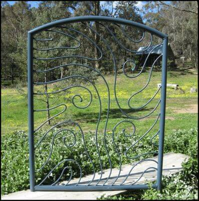 Wrought Iron Gate - Swirl Gate