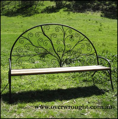 Individually made outdoor Steel furniture By Overwrought - Swirl Seat
